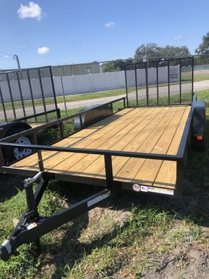 Utility trailer Atv Side ramps 7x16TA @ Brothers Trailers for Sale in Tampa, FL
