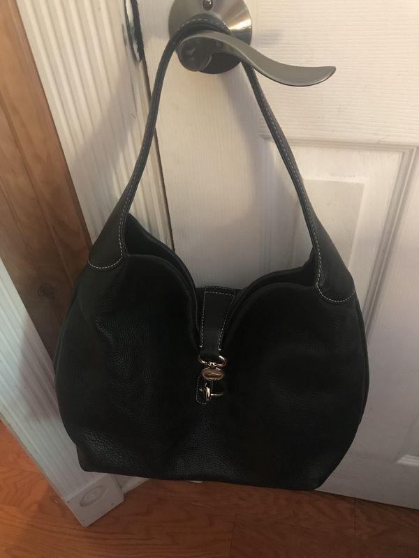Dooney & Bourke Black Leather Hobo Bag