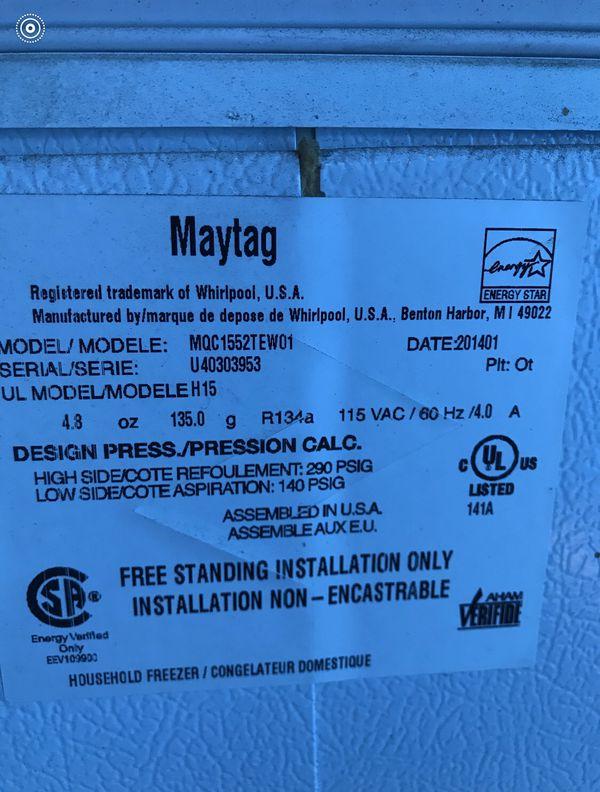 Maytag freezer