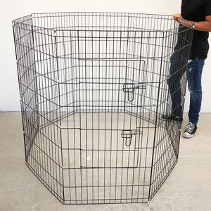 """Brand New $45 Foldable 48"""" Tall x 24"""" Wide x 8-Panel Pet Playpen Dog Crate Metal Fence Exercise Cage for Sale in Santa Fe Springs, CA"""