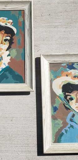Vintage Hand Painted Portrait Art for Sale in Los Angeles,  CA