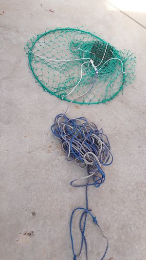 Crab net and rope ant trap for Sale in Patterson, CA