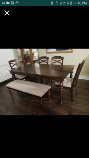 Farmhouse kitchen table with chairs and bench for Sale in Edmonds, WA