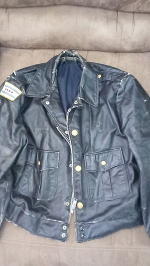 Authentic 1970's era Chicago police Real leather bomber jacket for Sale in Riverside, IL