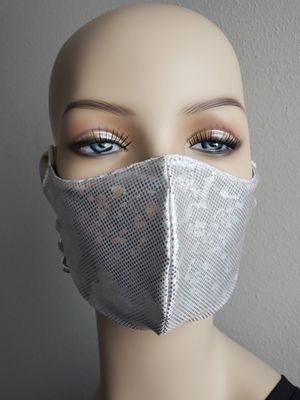 CUTE SILVER HOLOGRAPHIC FACE MASK for Sale in Monterey Park, CA