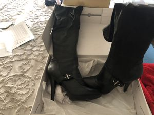 Michael Kors leather high heel boots size 10 for Sale in Philadelphia, PA