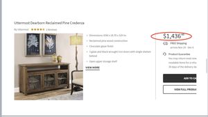 CREDENZA / CONSOLE TABLE (UTTERMOST) for Sale in Scottsdale, AZ