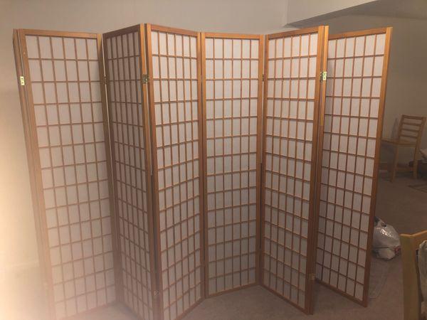 8 panel window Japanese divider screens furniture