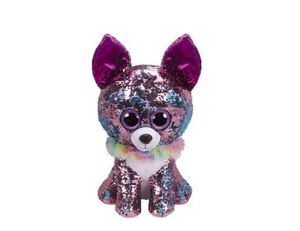 """TY Flippables Reverse Sequin Stuffed Animal Beanie Boo Plush Toy Large Size (16"""") - Yappy Chihuahua for Sale in Tustin, CA"""