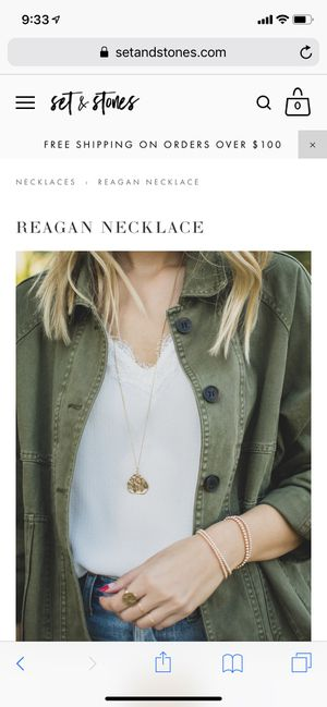 Set and stones reagan necklace for Sale in Mukilteo, WA