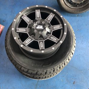 New set of ZR 17x8.5 Rims with two bridgestone tires 255/65-17 for Sale in Los Angeles, CA