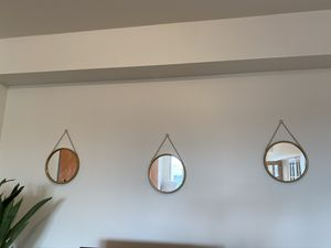Three Gold Hanging Mirrors for Sale in Washington, DC