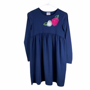 Hanna Andersson Blue Flower detail dress girls 12 for Sale in Lacey, WA