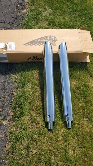 Set of Original, Indian Polaris Motorcycle Mufflers for Sale in Palatine, IL