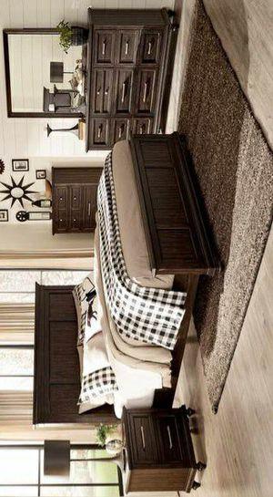 Cardano Dark Brown Panel Bedroom Set for Sale in Pflugerville, TX
