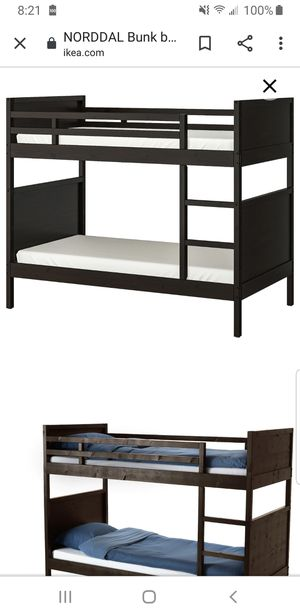 Twin bunk beds, trundle, 3 memory foam mattresses for Sale in Queens, NY