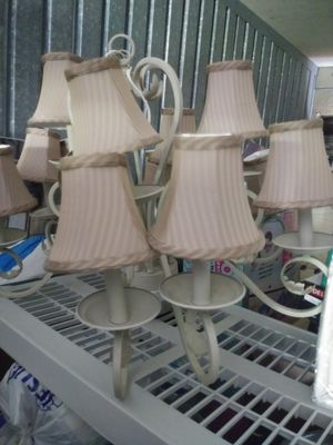 Beautiful chandelier /light fixture with optional shades for Sale in Fort Myers, FL
