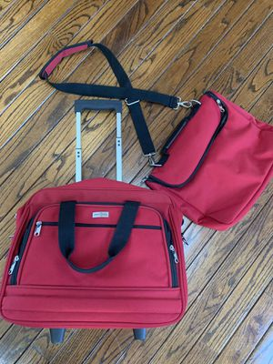 Small rolling suitcase & matching bag for Sale in Palatine, IL