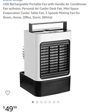 Portable fan air conditioner fan / ion for Sale in Norco, CA