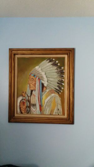 Native American oil painting for Sale in Avon Park, FL