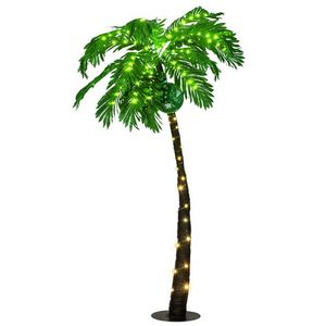 5 Ft Pre-lit Artificial Palm Tree Curve Trunk w/ Lights Home Pool Garden Decor for Sale in Rowland Heights, CA