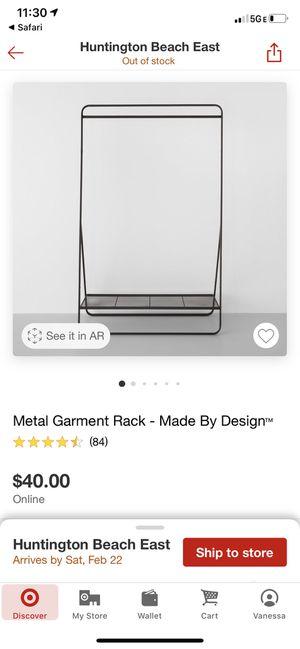 Metal Garment Rack for Sale in Costa Mesa, CA