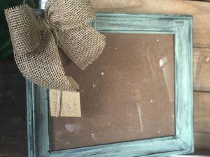 Vintage teal distressed frame for Sale in Cave Creek, AZ