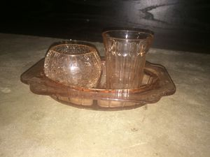 Antique bathroom glass set for Sale in Austin, TX