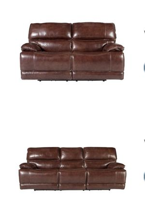 Wallace leather Reclining Sofa & Love Seat for Sale in New York, NY