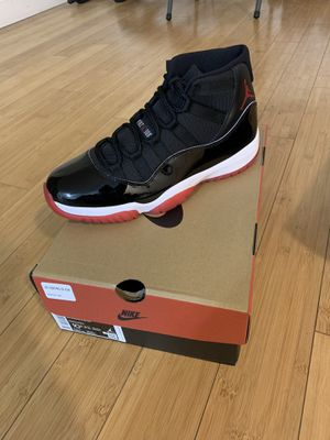 Nike Air Jordan XI 11 Retro Black Red Bred 2019 10.5 New Authentic for Sale in Cypress, CA