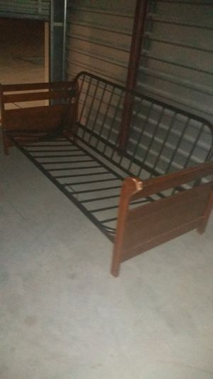 Full size futon frame wood with metal combo for Sale in Austin, TX