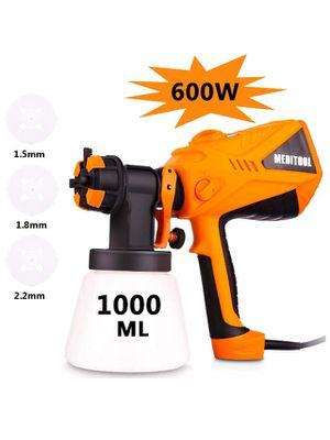 600 Watt High Power HVLP Home Electric Spray Gun Three Spray Patterns 3 Nozzle Sizes 1000 ml Detachable Container for Sale in Corona, CA