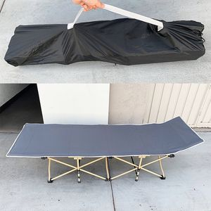 """New in box $50 Folding Cot Camping Bed Collapsible w/ Carrying Bag Outdoor 75""""x27"""" (Max 300lbs) for Sale in El Monte, CA"""