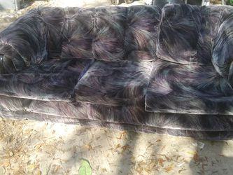Nice Purple, Black, And Blue Sofa And Matching Love Seat (MUST GO TODAY AS I HAVE NO WHERE TO STORE) for Sale in Orlando,  FL