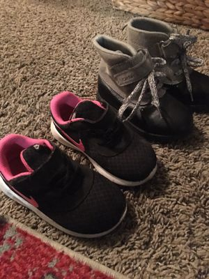 Nike & Carter boots toddler girl size 8 for Sale in Spokane, WA