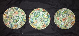 Set/3 Very Rare Beautiful Vintage ATLAS CHINA - STOKE on TRENT - GRIMWADE England Paisley Pattern Small Plates for Sale in New Haven, CT