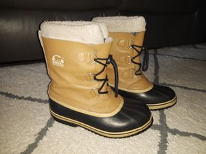 Womens Size 5 SOREL SNOW/RAIN BOOTS. for Sale in Otis Orchards, WA