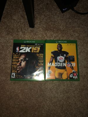 Madden 19, NBA 2k19 Legend Edition for Sale in Scappoose, OR