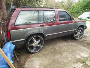 1991 classic chevy blazer 4 door v6 bad tramsmition engine good .rins 24 good tires clean ticle shell perfect sale chip for Sale in Orlando, FL