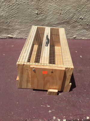 Wood bird carriers,jaula de madera para transportar pájaros. for Sale in Richmond, CA
