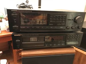 Onkyo tuner/amplifier and Kenwood multiple CD player for Sale in Silver Spring, MD