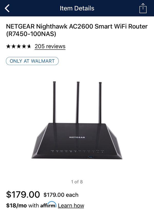 Nighthawk AC2600 smart Wi-Fi router