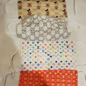 Pack Of 4 Designer Print Reusable Washable Masks for Sale in Seaford, NY