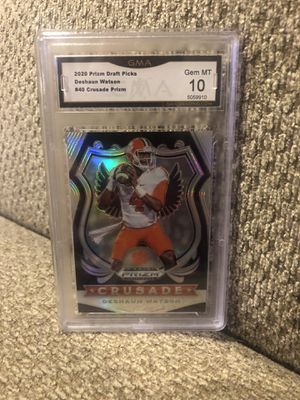 2020 Prizm draft Deshaun Watson crusade silver graded 10 for Sale in Cranberry Township, PA