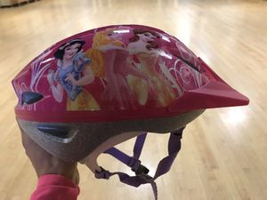 Like new kids child little girls Disney pink fuchsia princess bike helmet for Sale in Tigard, OR