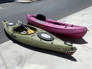 2 kayaks with holders for Sale in Glendale, AZ