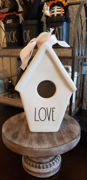 Rae Dunn slant roof Love Birdhouse for Sale in Federal Way, WA