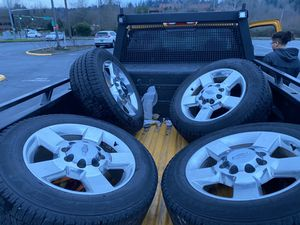 Chevy Silverado 2500 3500 oem wheels and tires 20 for Sale in Renton, WA