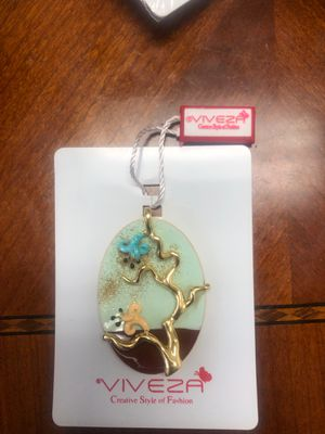 Sterling silver hand painted pendants for Sale in Pomona, CA