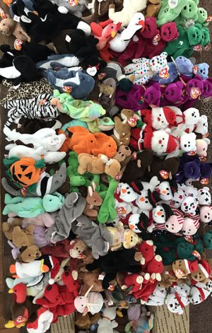 Huge Lot 150 New TY BEANIE BABIES ALL w TAGS Some RARE & ERRORS for Sale in Marietta, GA